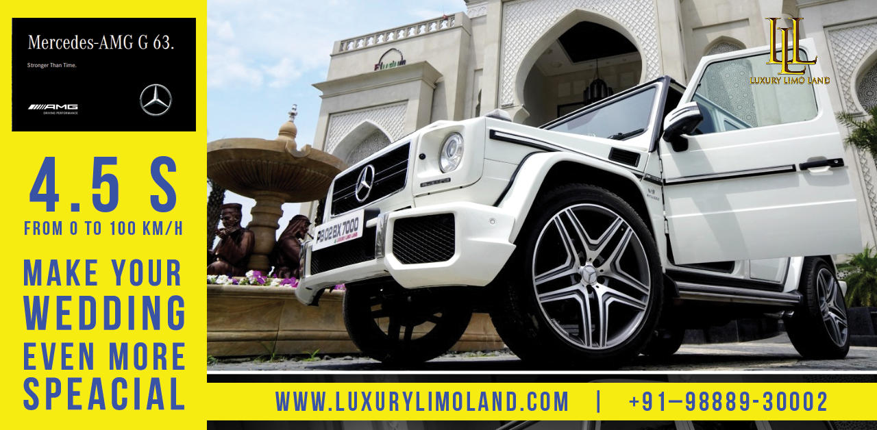 G-WAGON The luxurious vehicle as your wedding car